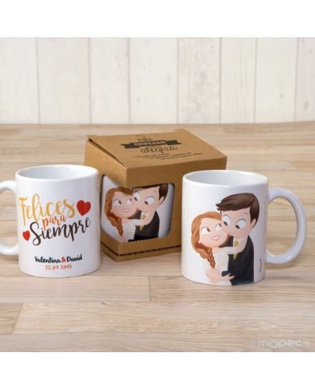 Taza de novios Pop & Fun personalizable