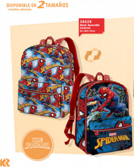 Mochila reversible Spiderman
