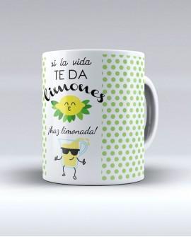 """Taza """"Si la vida te da limones, haz limonada!!"""""""
