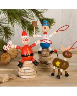 Colgante de madera navideño surtido.