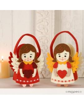 Bolsito de fieltro angelitas