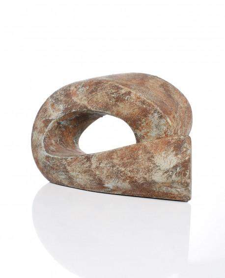 Escultura sujetalibros oxido tumbada Romera