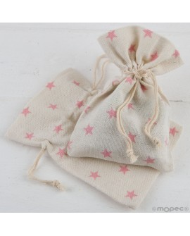 Bolsita de algodón con estrellas