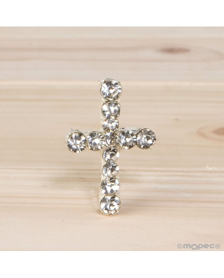 Broche cruz con strass