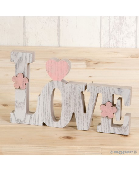 Decoración de madera románticas