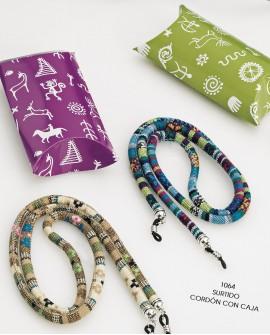 Cordón para gafas étnico con caja de regalo.