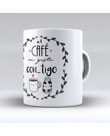 "Taza para parejas especiales ""Café"""