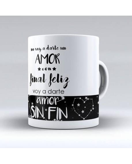 """Taza para parejas especiales """"Amor sin fin"""""""
