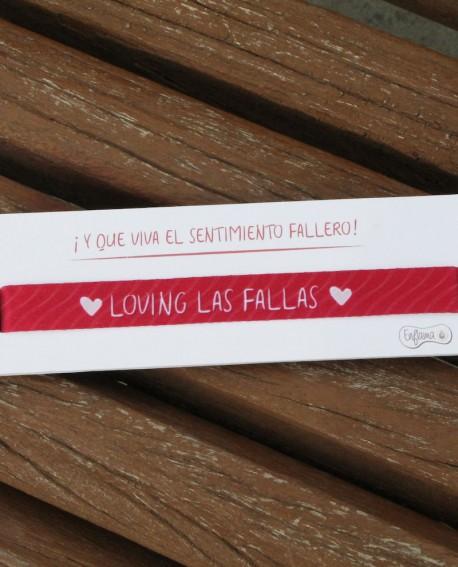 """Pulsera """" Loving las fallas"""""""