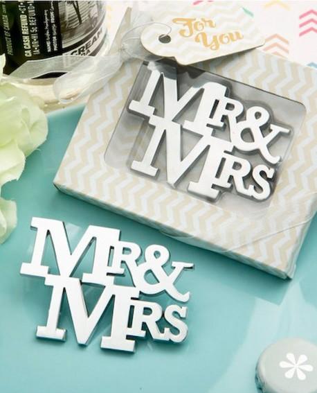 Abrebotellas MR & MRS en caja de regalo.