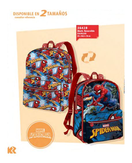 Mochila reversible Spiderman
