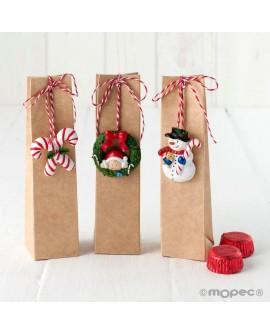Cajita de bombones con colgante de resina navideño