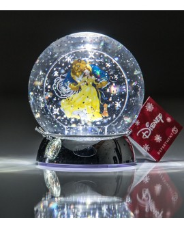 """Bola de agua con punto de luz de """"La bella y la bestia"""""""