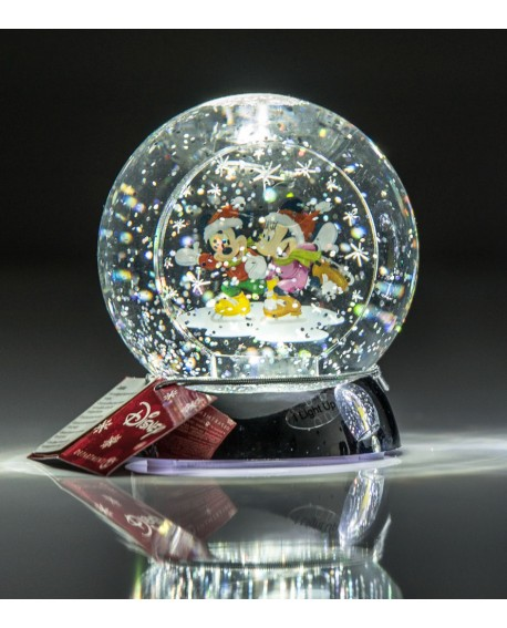 """Bola de agua con punto de luz de """"Mickey y Minnie"""""""