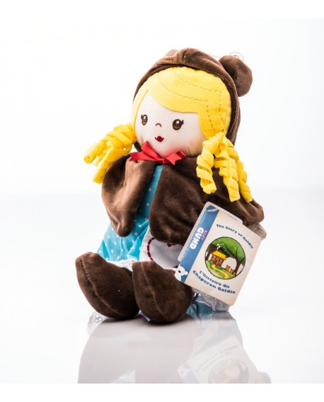 Muñeca de trapo Ricitos de oro