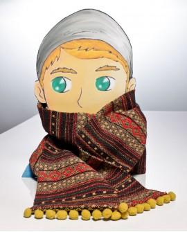 Bufanda fallera artesana de manta d l´horta.