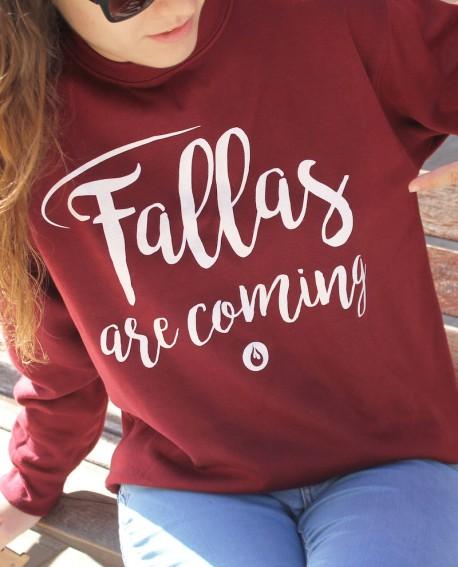 "Sudadera fallera ""Fallas are coming"""