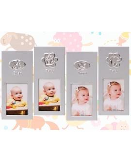 Portafotos infantil aluminio surtido