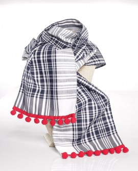 Bufanda fallera artesana tela pañuelo.