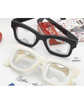 Abridor de botellas con forma de gafas