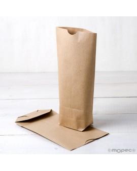 Bolsa de papel kraft sin asas lisa.