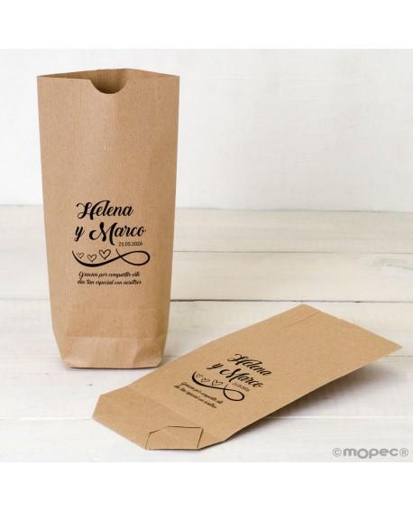 """Bolsa de papel kraft """"Gracias por compartir""""."""