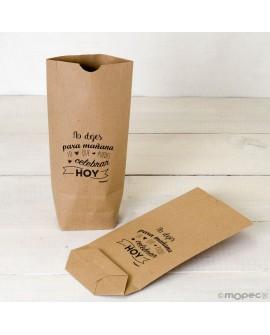 "Bolsa de papel kraft ""No dejes para mañana""."