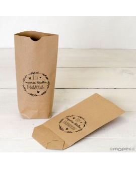 """Bolsa de papel kraft """"Los pequeños detalles enamoran""""."""