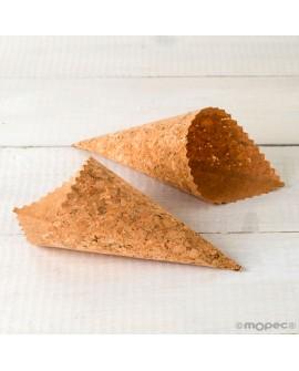 Cono de corcho para pétalos y arroz