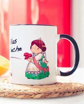 """Jarra de porcelana """"Las fallas son la leche"""""""