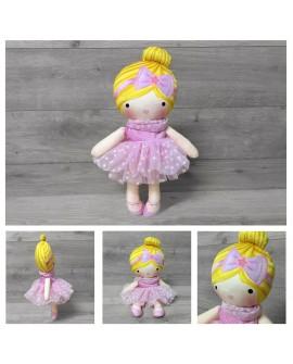 Muñeca bailarina trapo