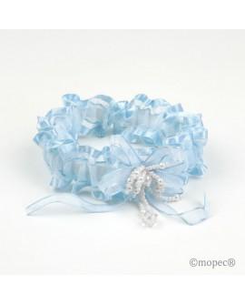 Liga para novia en azul.