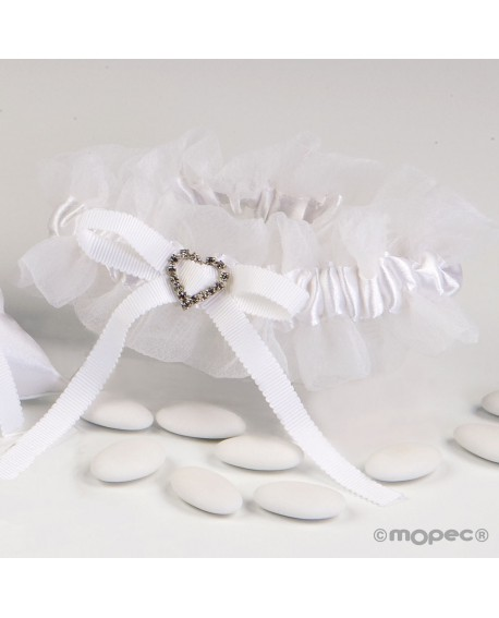 Liga para novia en blanca.