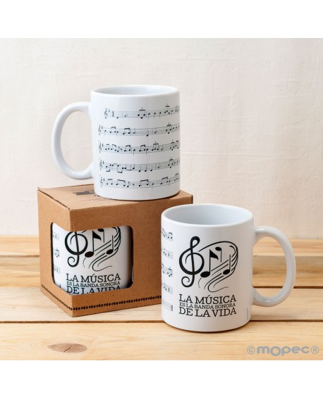Taza partitura de música