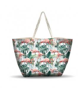 Bolsa de playa flamencos