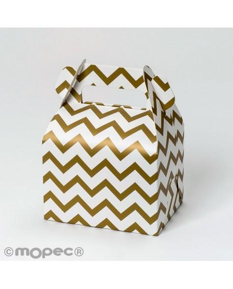Caja de cartón con decoración para regalos de Navidad
