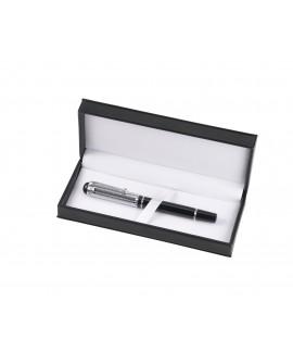 Bolígrafo roller metal con estuche.