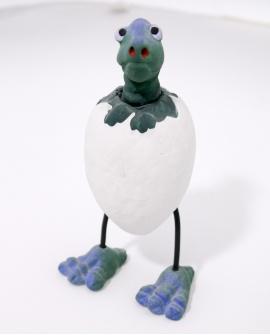 Huevo de dinosaurio verde