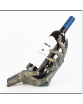 Alegoría de la amistad con botella de vino