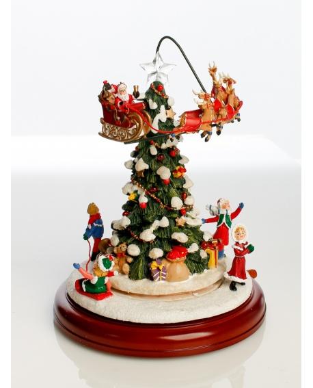 Caja de música árbol de Navidad.