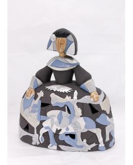 Menina Guernica azul