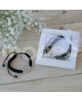 Pulsera paz y amor regulable