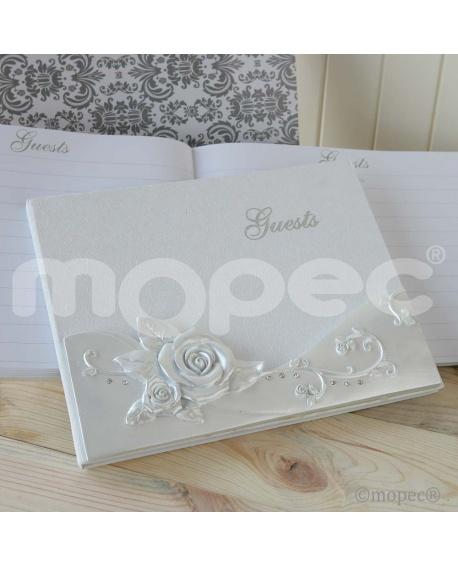 Libro de firmas de bodas.