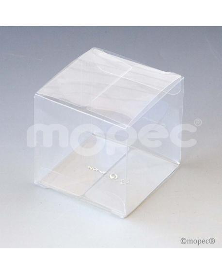 Caja cubo transparente