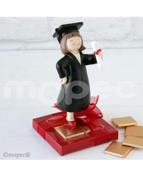 Figura de graduada con bombones