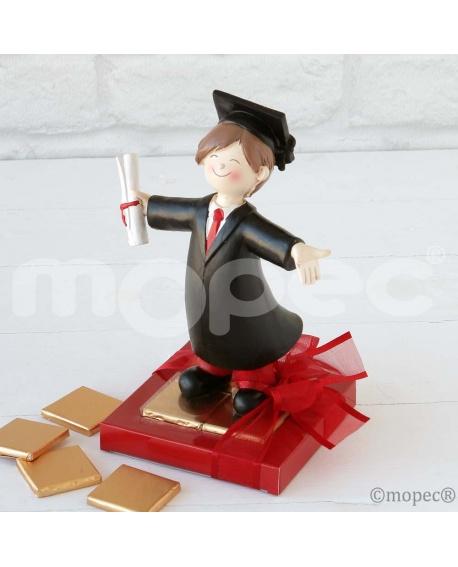 Figura de graduado con bombones