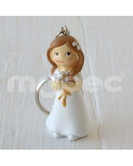 Muñeca de comunión con paloma