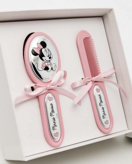 Jgo. de peine con cepillo extrasuave de Minnie