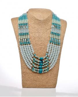Cuello de minerales en turquesa Careli
