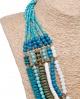 Cuello de maderitas en turquesa Careli